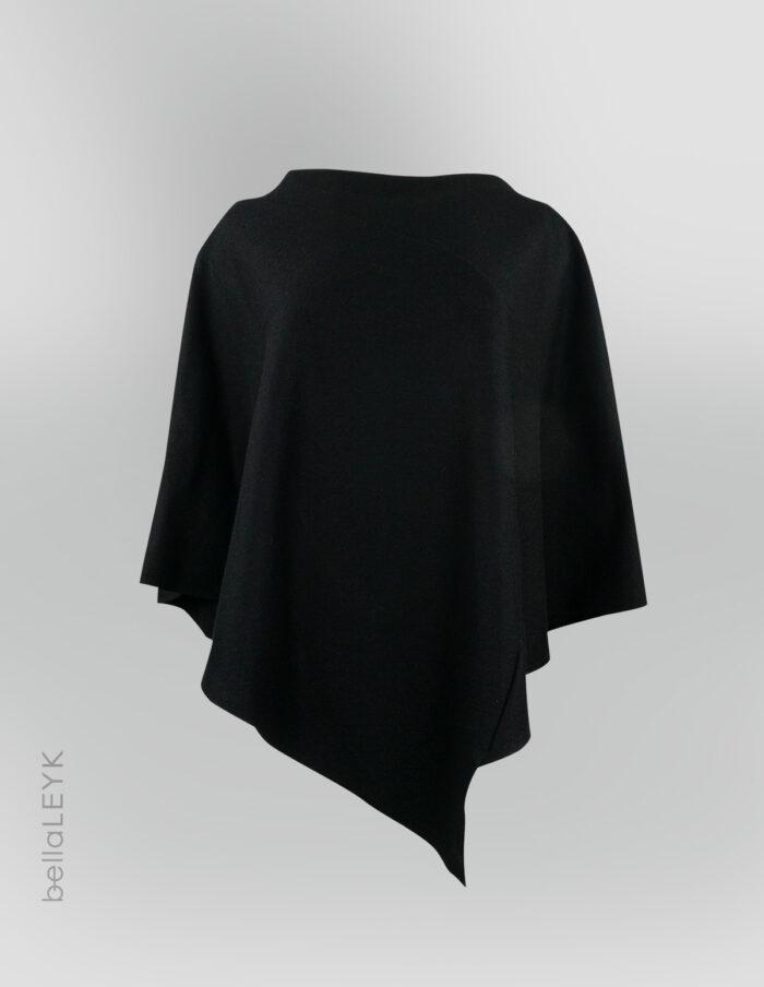 bellaleyk-poncho-schwarz-vonvorne